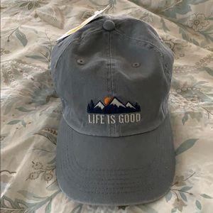 Life is good baseball cap hat